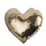 Наволочка на подушку в форме сердца с декоративными пайетками, меняющими цвет