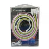 LED Flexible Neon Light Set 4*1M, 12VDC, 1CM Cut, 5 x 12mm DC Head